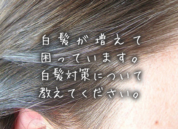 白髪が増えて困っています。白髪対策について教えてください。.jpg