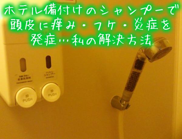 ホテル備付けのシャンプーで頭皮に痒み・フケ・炎症を発症…私の解決方法.jpg